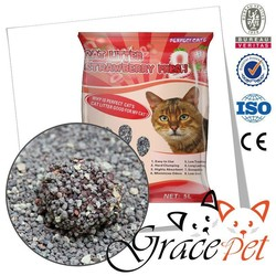 Purple irregular sterilize cat litter, cat sand
