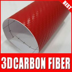 new style TS carbon film 1.52x30m auto folie car adhesive glue Red
