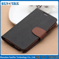 Dual Color Wallet Case for Samsung GALAXY S4/I9500, for galaxy s4 case with stylus holder