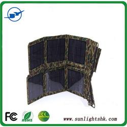 Newest Foldable Solar bag,Portable Solar panel charger bag, 18W portable folding solar panel mobile bag