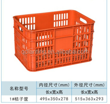hight quality recylabe plastic crate container /turnover plastic box with wheels or handles
