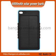 8000mAh Power Bank Dual USB Portable Solar Battery Charger For Cell Phone Black