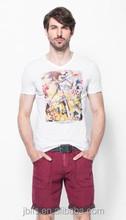 100% cotton printing men short sleeve t shirt