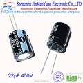 La mejor calidad 22 UF 450 V alta tensión condensador electrolítico de aluminio venta