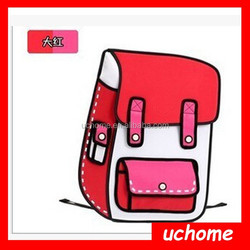Uchome 3D Jump Style 2D Drawing From Cartoon Paper Bag Comic Backpack Bag