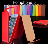 Deluxe Sheep Skin Flip PU Leather Case for iPhone 5 5G