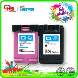 remanufactured ink cartridge ink visible refil ink 662xl Printer Supplies
