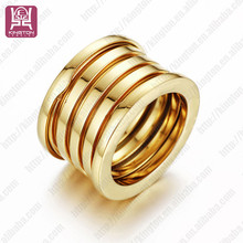 fashion custom logo 316l surgical stainless steel rings design