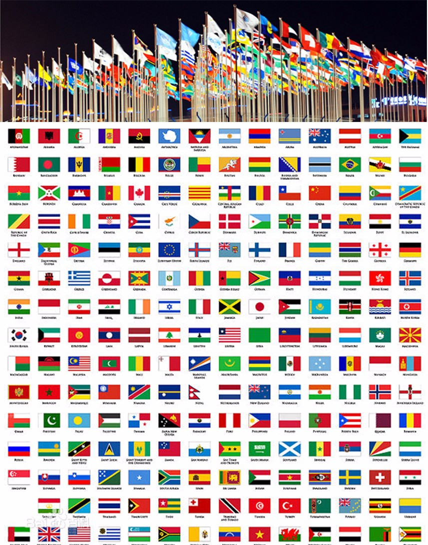 Various Types Country Flags Flags For All Countries