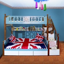 Hongjin Kids Room Furniture Bunk Beds with Stairs