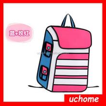 Uchome 2015 lady fashion 3D cartoon bag paper bag handbag school bag