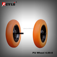 Wholesale PU foam wheel4.00-8 airless tire for trolley