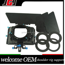 DSLR Matte Box M3 Sunshade Shading Card with Swing-Away for 15mm Rail Rod Support Follow Focus System