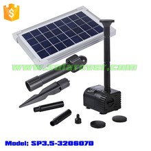 Electricity cost free 0.9m head 300LPH flow rate brushless solar submersible water pump (SP3.5-320607D)