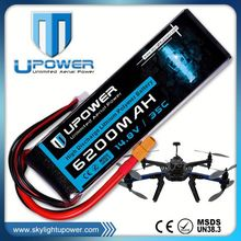 Upower 7.2v rc helicopter battery lipo battery with MSDS UN38.3