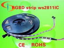 china factory led flexible strip rgb with built-in ic 60leds smd 5050 ws2811 (5v 14.4w/m)