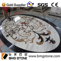 Hotel Decoration Waterjet Marble Tiles Design Floor Pattern