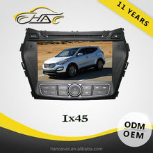 in dash double din navigation for hyundai ix45 car dvd player bulit in bluetooth