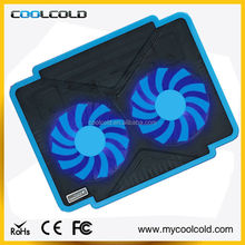 Super slim laptop cooling fan,notebook cooler with double fans many colors available