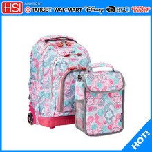 hot new products wholesale big wheels school trolley bags for girl child