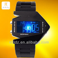 Mirror Face with Digital Display and Silicone Strap mickey mouse watches