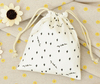 custom printed promotion candy sugar jelly gift children's small organic cheap cotton drawstring bag