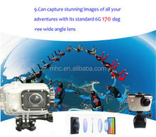 Hot sale Pro Full hd NewStyle 1080p wifi built-in battery waterproof sports Diving Bicycle action camera