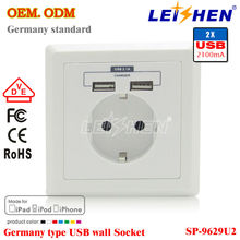 CE and RoH standard Wall Socket Euro Style 220V 16A Usb Wall Socket