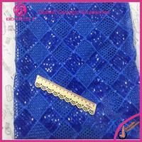 Guangzhou Fashion Lace 2015 Latest Wholesale Sequin Tulle Lace