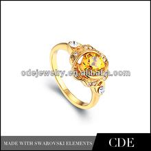 china 2014 venta al por mayor de último diseño anillo de oro
