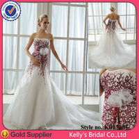 hot sell luxurious blossom red Celebration pink ball gown designs for 2014