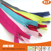Zipper manufacturers beautiful weaving 3# bridal invisible zippers for sofa