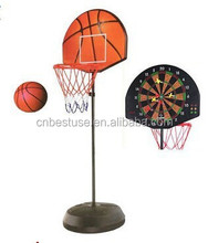 Magnetic Dartboard & Basketball Hoop