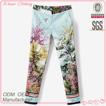 Direct factory best selling flora printed cotton sheeting pants