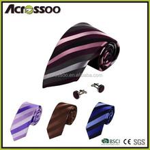 Wholesale fashion striped satin necktie/Hot sale 100% silk mens tie