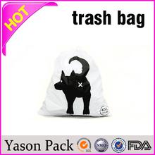 Yason sanitary plastic bag biodegradable corn bag purple garbage bags