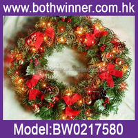 best selling christmas items , 50cm homemade christmas wreaths H0T060