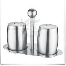 Custom Stainless Steel Salt Pepper Cruet Set /Salt Pepper Bottle Set