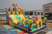 inflatable bouncy castle slide, inflatable castle combo