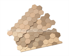 EMX705 new arrival champagne peel and stick metal mosaic tiles