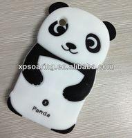 cute 3D panda silicone case for Blackberry curve 8520