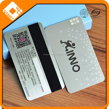 Silver surface Brushed card /Engraved metal business card