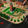 artificial 3d building models with landscape and layout