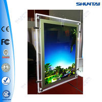 New design haning crystal led acrylic picture frame insert
