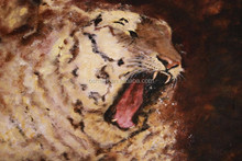 Professional Artist Hand Painted High Quality Abstract Animals Painting Abstract Tiger Roar Oil Painting On Canvas Artworks