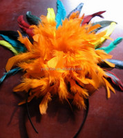 feather headband feather pad factory supply feather headband for hair decoration