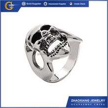 RR0130 cheap stainless steel jewelry 316l man skull ring