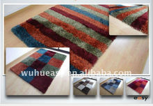 Strip Design Table Tufted Polyester Shaggy Carpet