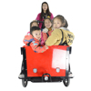 CE front loading Danish bakfiet pedal assisted passenger and cargo motorized tricycle