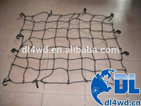 Elastic Luggage cargo Net for 4x4 Car, with cargo net plastic hooks